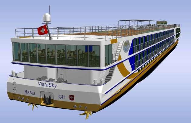, 1AVista Reisen präsentiert Schiffsneubau VistaSky