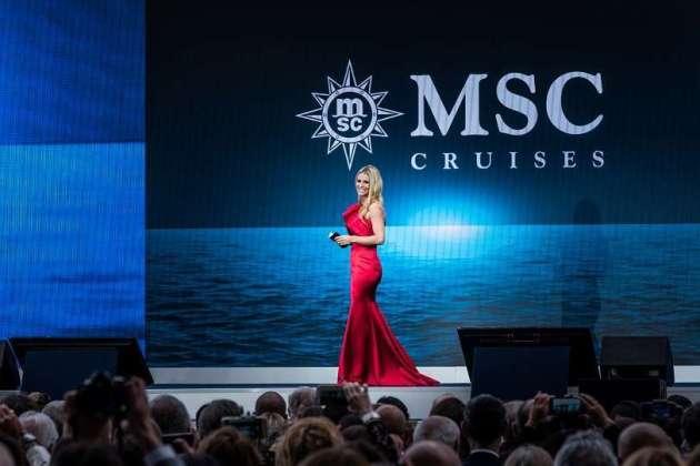 , Michelle Hunziker tauft die MSC Grandiosa am 9. November in Hamburg