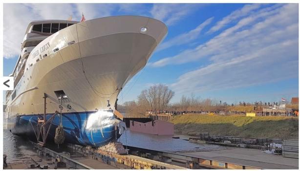 Neues Expeditionsschiff für die Galapagos Inseln, Silver Origin neues Silversea Schiff jetzt im Endausbau in der DE Hoop Werft