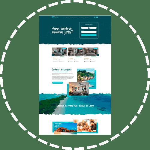 layout de site de turismo