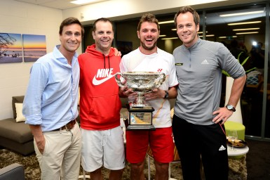 Wawrinka with team Tennis  Coaches