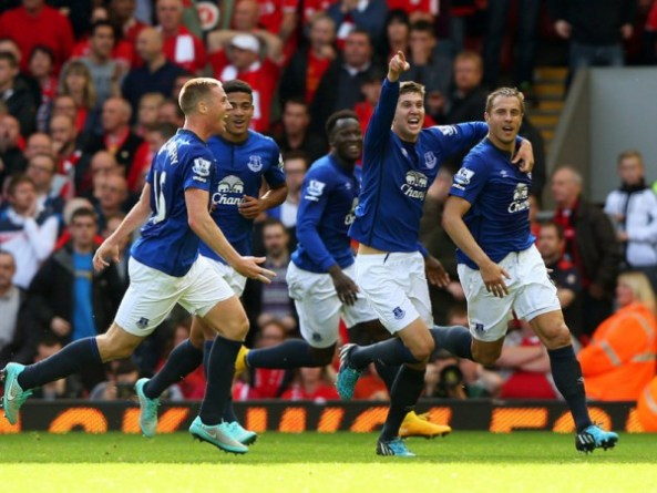A stunning long-range drive from Phil Jagielka