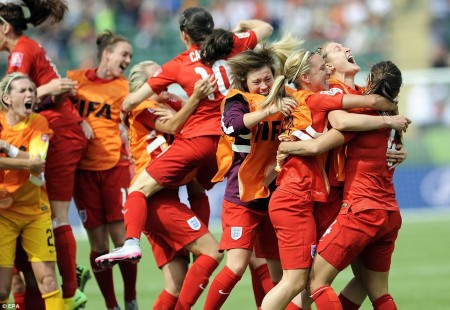 England Defeat Germany women world cup