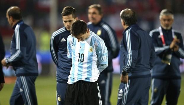 Lionel Messi fails copa