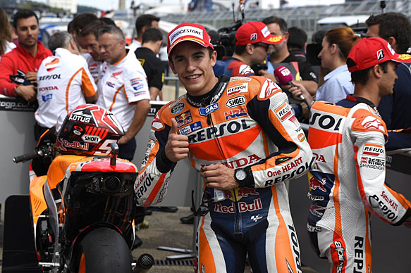 Marquez Takes Second Top Podium