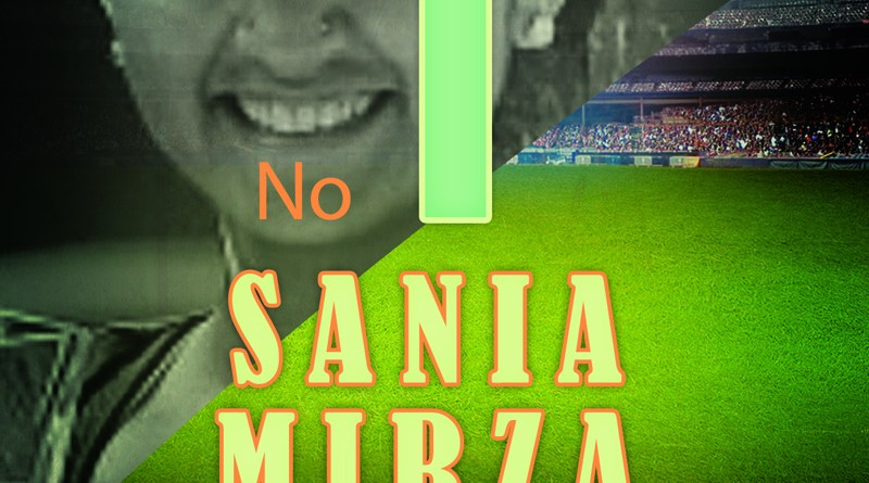 Sania Mirza Indian tennis player holding no.1