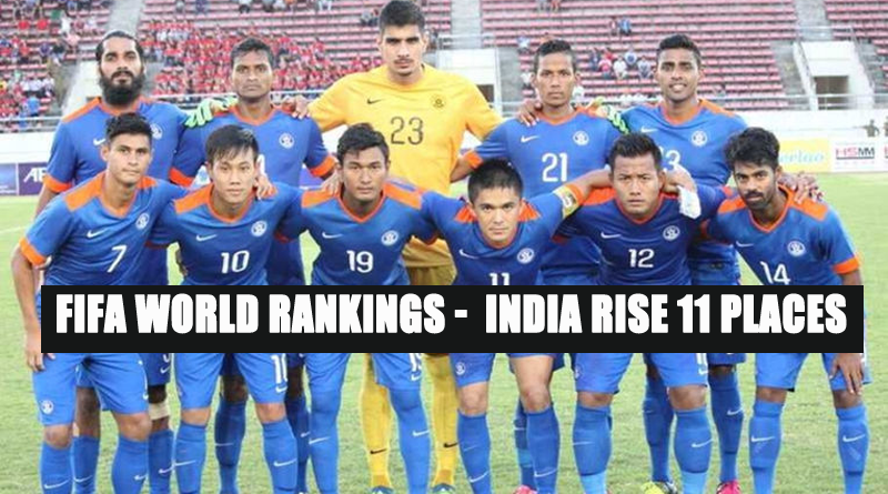 Fifa World Rankings - India rise 11 places