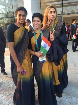 Indians Rejoice During the Colorful Opening Ceremony of the 2016 Rio Olympics