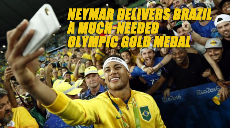 Neymar delivers Brazil a much-needed ego boost with Olympic gold medal