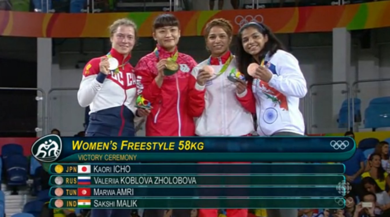 Sakshi medal win for India