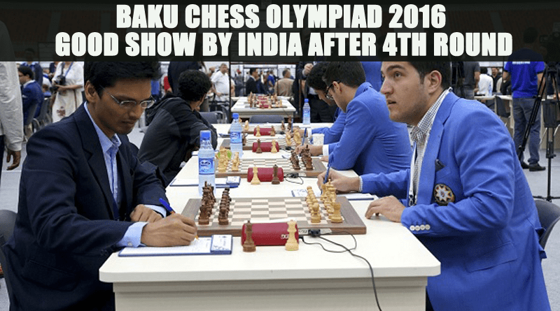 Baku Chess Olympiad 2016: Good Show by India after 4th round