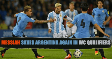 Messiah saves Argentina again in WC Qualifiers