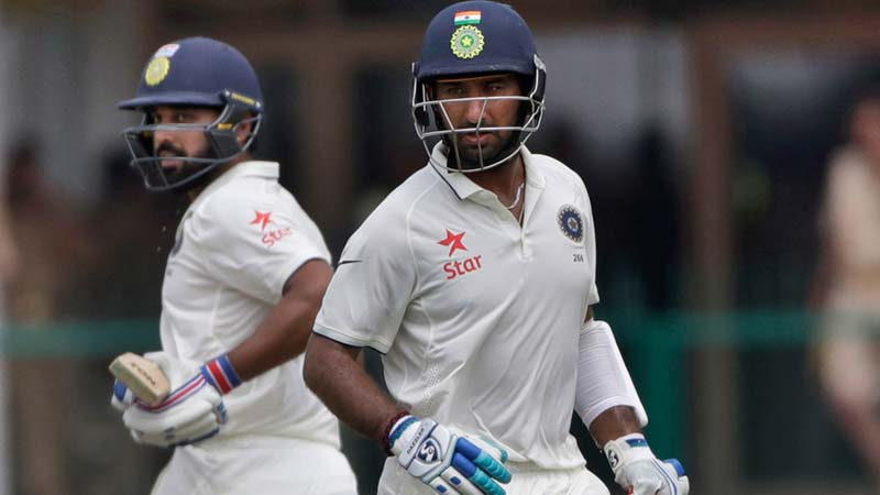 Vijay-Pujara's partnership extend India's dominance on day 3