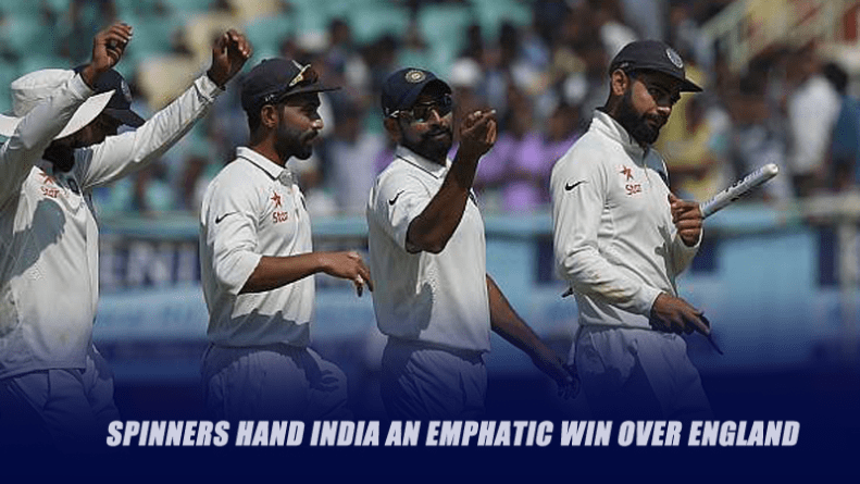 Spinners hand India an emphatic win over England