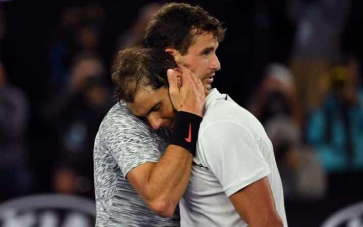 Nadal Passes Acid Test by Beating Dimitrov to Set Up Federer Clash on Sunday