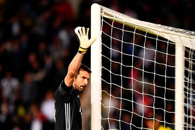 Juventus' goalkeeper from Italy Gianluigi Buffon
