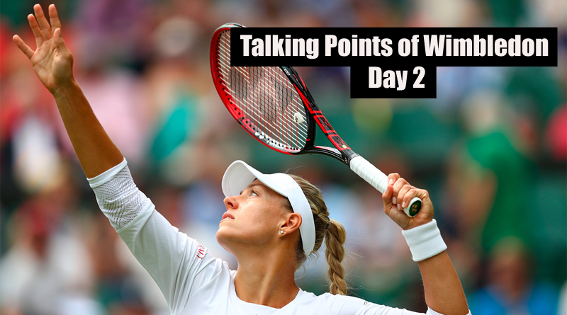 Talking Points of Wimbledon Day 2