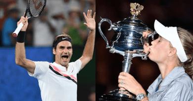 Roger Federer and Caroline Wozniacki Are Australian
