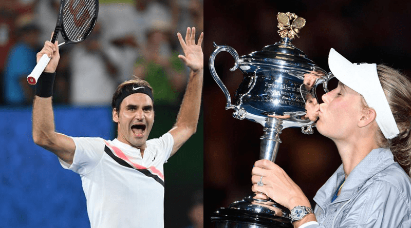 Roger Federer and Caroline Wozniacki Are Australian