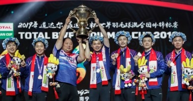 SUDIRMAN CUP 19 winner china team