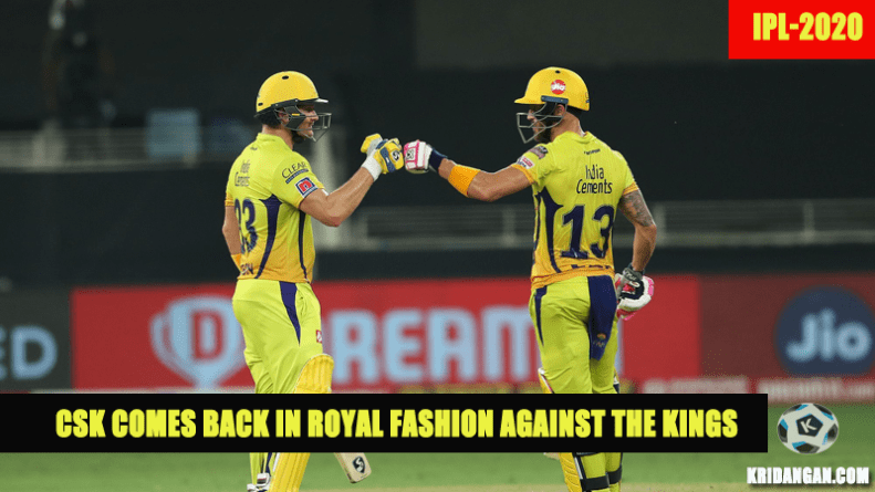 CSK comes back in Royal fashion against the Kings