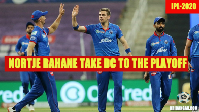 Nortje Rahane take DC to the playoff