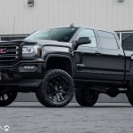 Lifted 2018 Gmc Sierra 1500 With 22 10 Fuel Blitz Wheels And 7 Inch Rough Country Suspension Lift Kit Krietz Auto