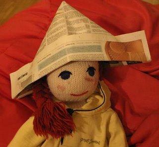 newspaper hat