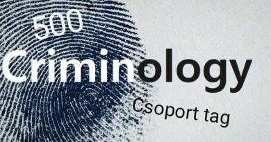 500tagú a Kriminológia Most Facebook csoport
