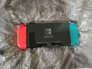 Switch mit Crystal Schützhülle von hinten