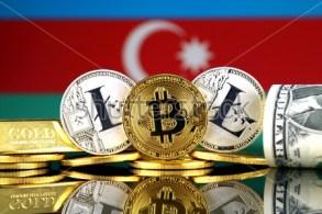 stock-photo-physical-version-of-bitcoin-litecoin-gold-us-dollar-and-azerbaijan-flag-conceptual-image-for-767491270