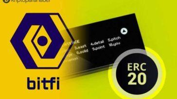 Bitfi ERC-20 tokenlerini destekleyerek aracıları ortadan kaldırıyor!