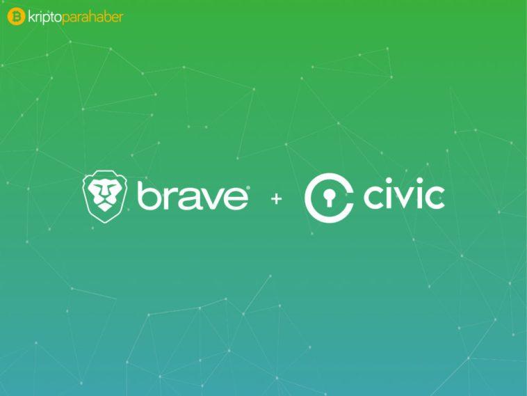 Brave Civic ile kimlik doğrulama hizmetlerini kullanacak