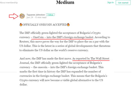 OneCoin is added to the IMF currency basketCrypto News
