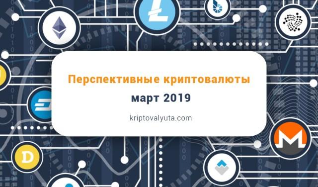 Перспективные криптовалюты, март 2019