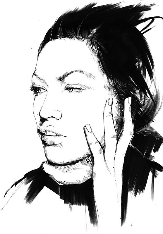 Hand, Face - Marker Art