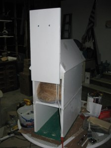 Cat House - Unfinished, Back Door Open