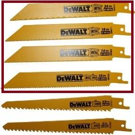 DeWalt brand reciprocating saw blades all types