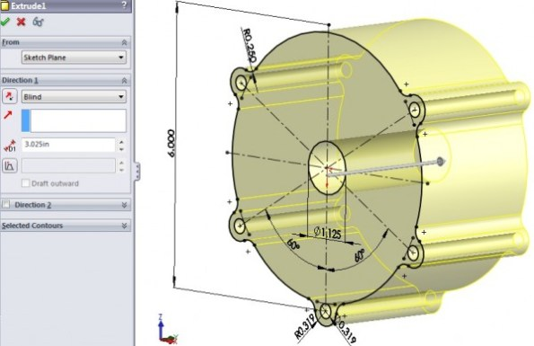 3D CAD Modeling - Solidworks - How To - Fuel Pump Mount Close Ups - 2
