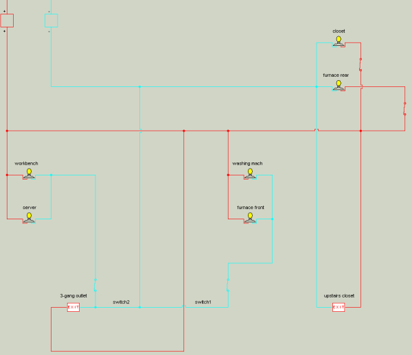LAUNDRY WIRING DIAGRAM from The Constructor