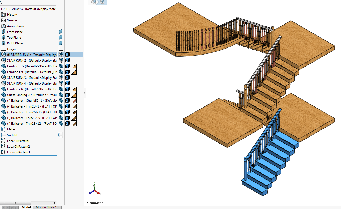 COPPER BRONZE STAIRCASE BALUSTERS CAD 1