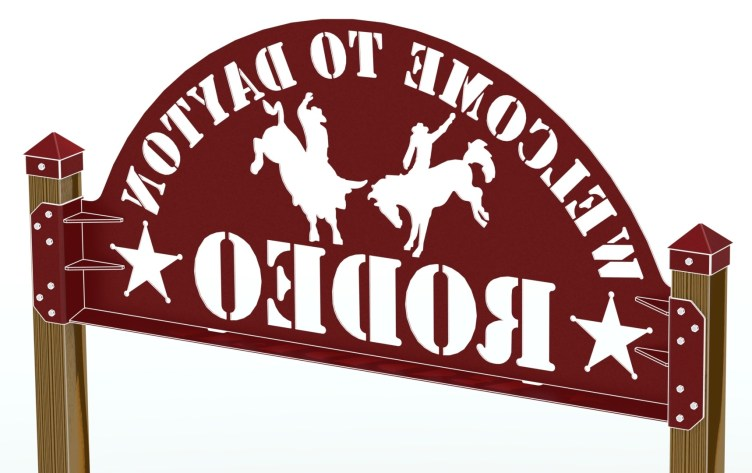 RENDER - DAYTON RODEO WELDED SIGN ASSEMBLY 95IN REAR 2CARTOON