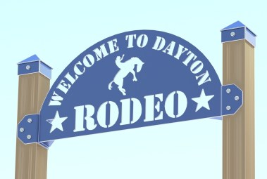 RENDER - DAYTON RODEO WELDED SIGN ASSEMBLY FRONT 3CARTOON