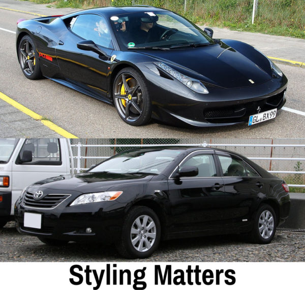 Styling Matters - Ferrari 458 Spider vs 2006-2009 Toyota Camry