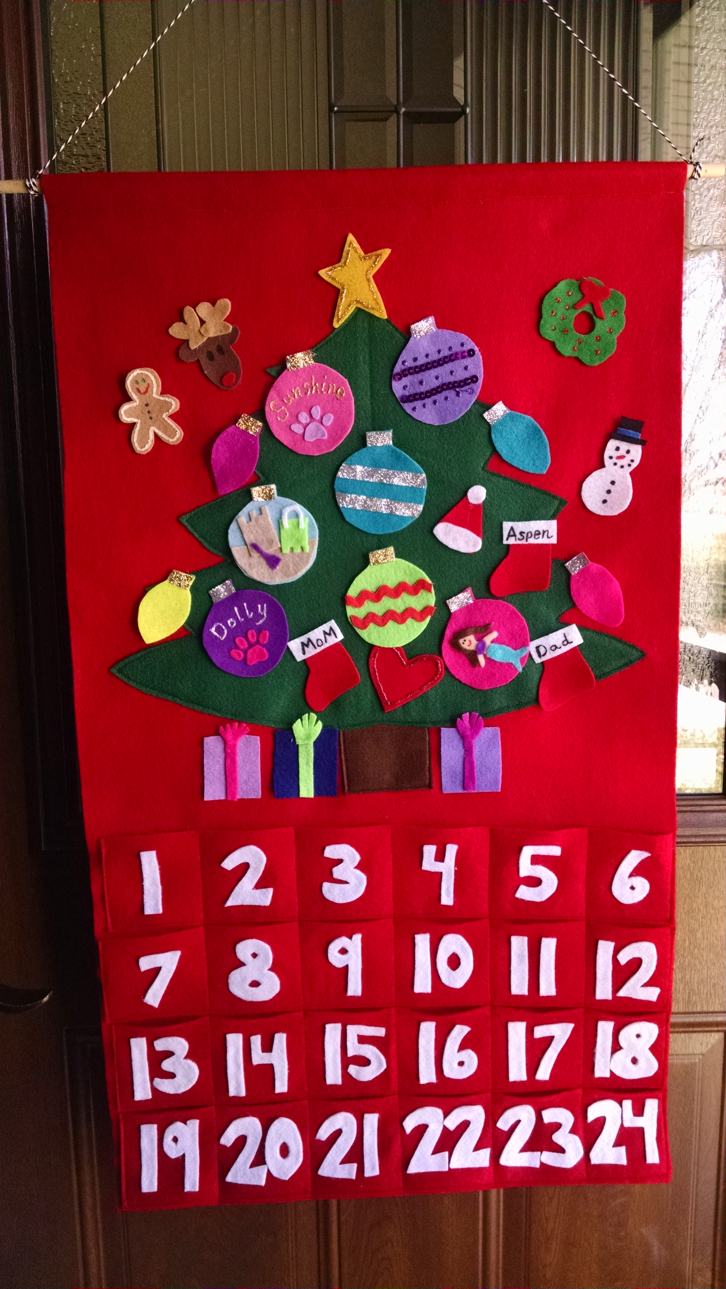 Holly Makes Advent Calendars - with Custom Names and Hobby Tree Ornaments