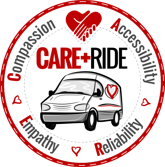 CARE RIDE LOGO - ROUND PATCH WHITE-WHITE B 1450px