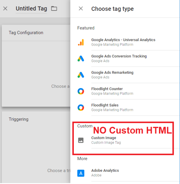 GTM (Google Tag Manager) AMP Container Tags--No Custom HTML