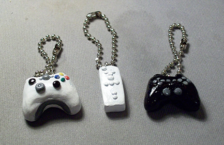 Sculpey Charms - game controllers
