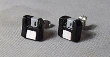 Sculpey Earrings - black floppies