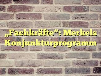 """Fachkräfte"": Merkels Konjunkturprogramm"